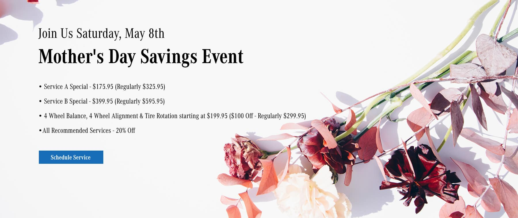 Mother's Day Savings Event