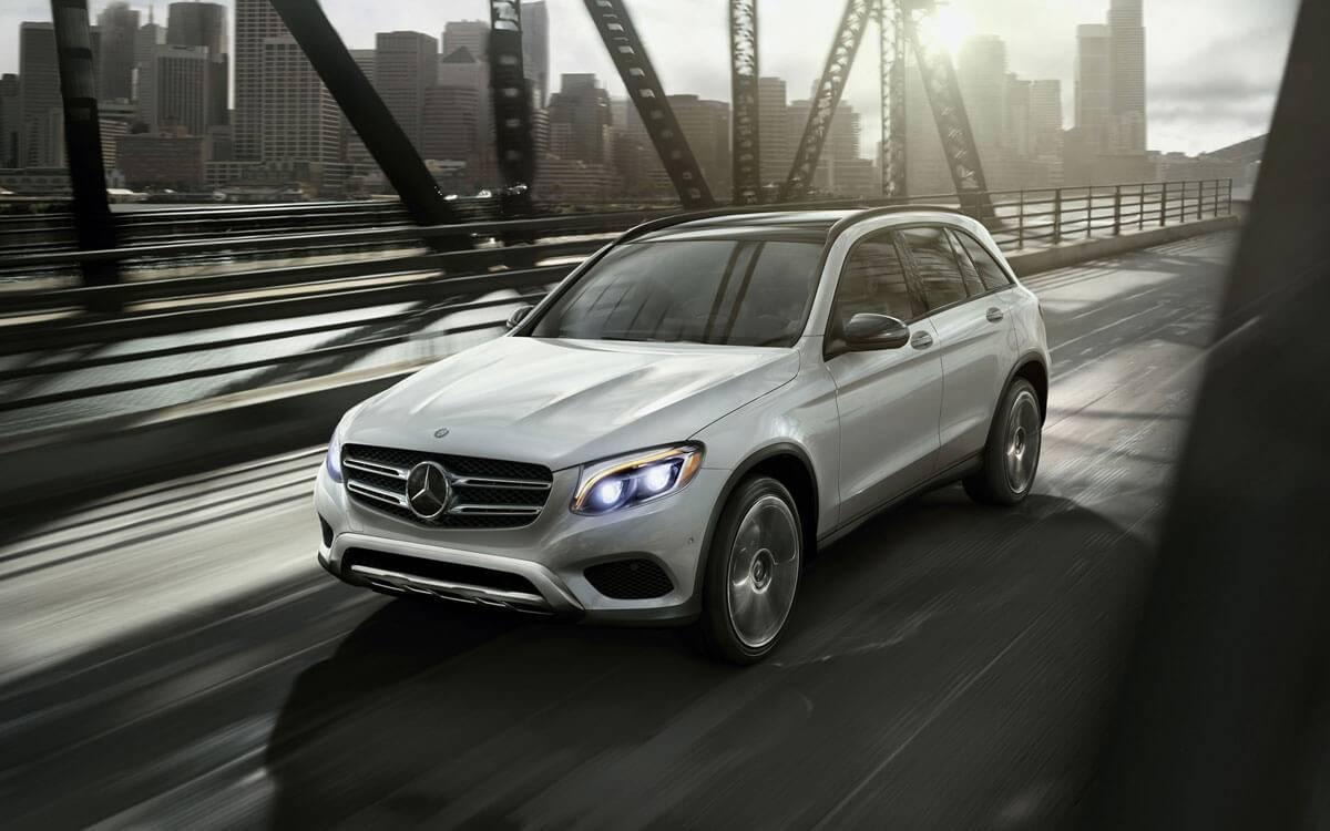 2017 GLC front view on bridge