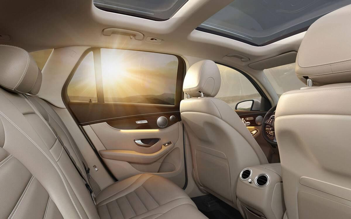 2017 GLC interior view of sunset