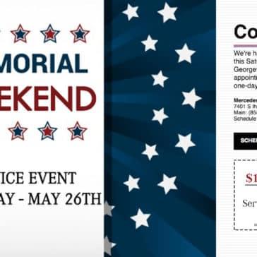 Memorial Weekend 2018 Banner
