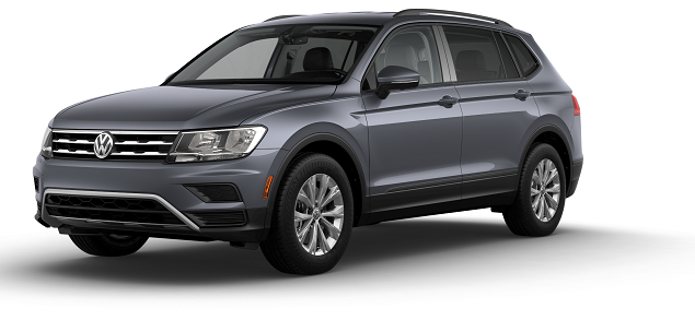 VW Tiguan Platinum Gray Metallic.