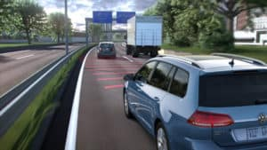 VW Golf Sports Wagen lane safety