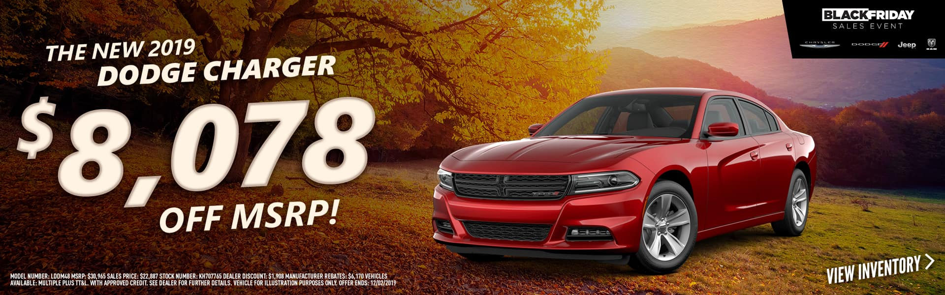 2019 Dodge Charger - $8,078 off MSRP