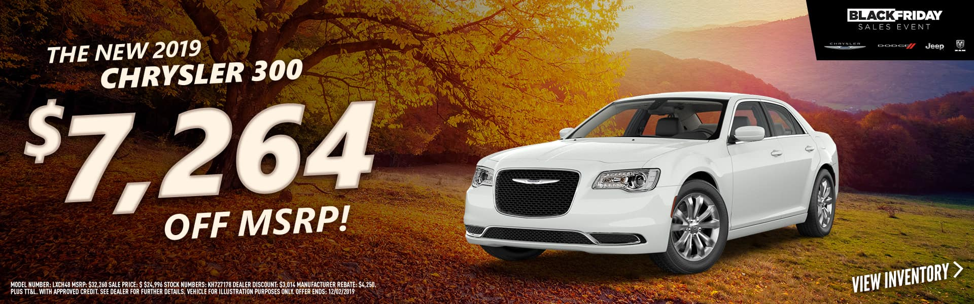 2019 Chrysler 300 - $7,264 off MSRP