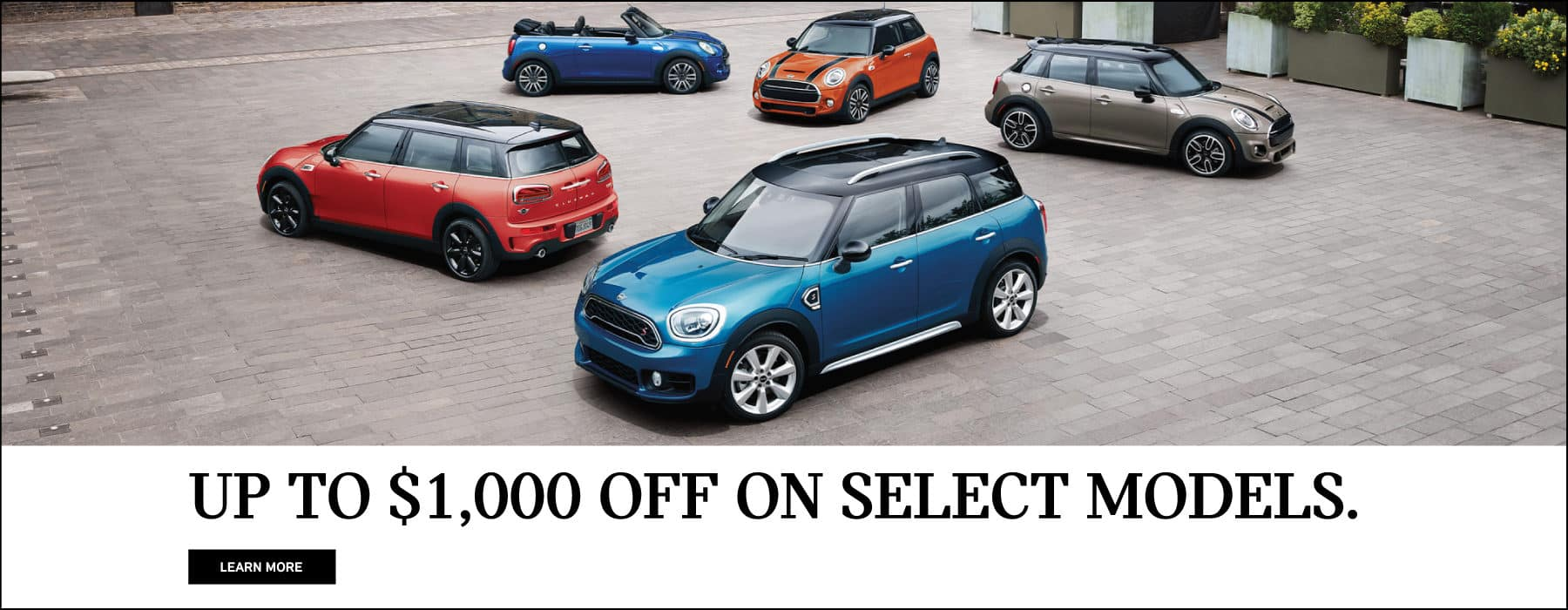 up to $1,000 off select mini models.