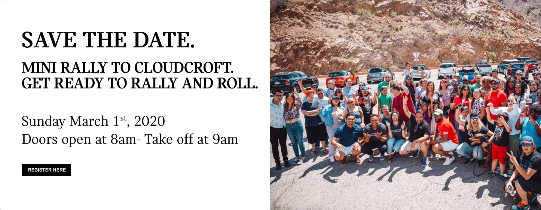 MINI RALLY TO CLOUDCROFT GET READY TO RALLY AND ROLL. SAVE THE DATE FOR SUNDAY, MARCH 1ST. DOORS OPEN AT 8AM TAKE OFF AT 9AM