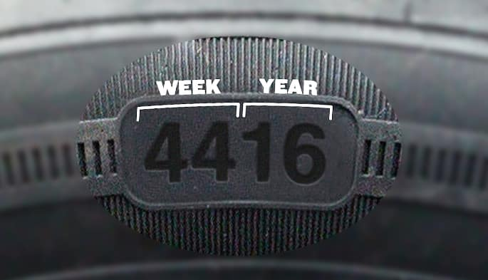 where is the manufacturing date on a tire? | Team Gillman Mazda