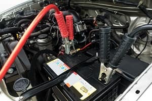 Car battery jump start precautions