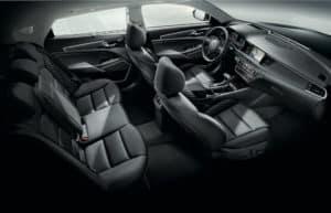 Black Interior of 2019 Kia Cadenza