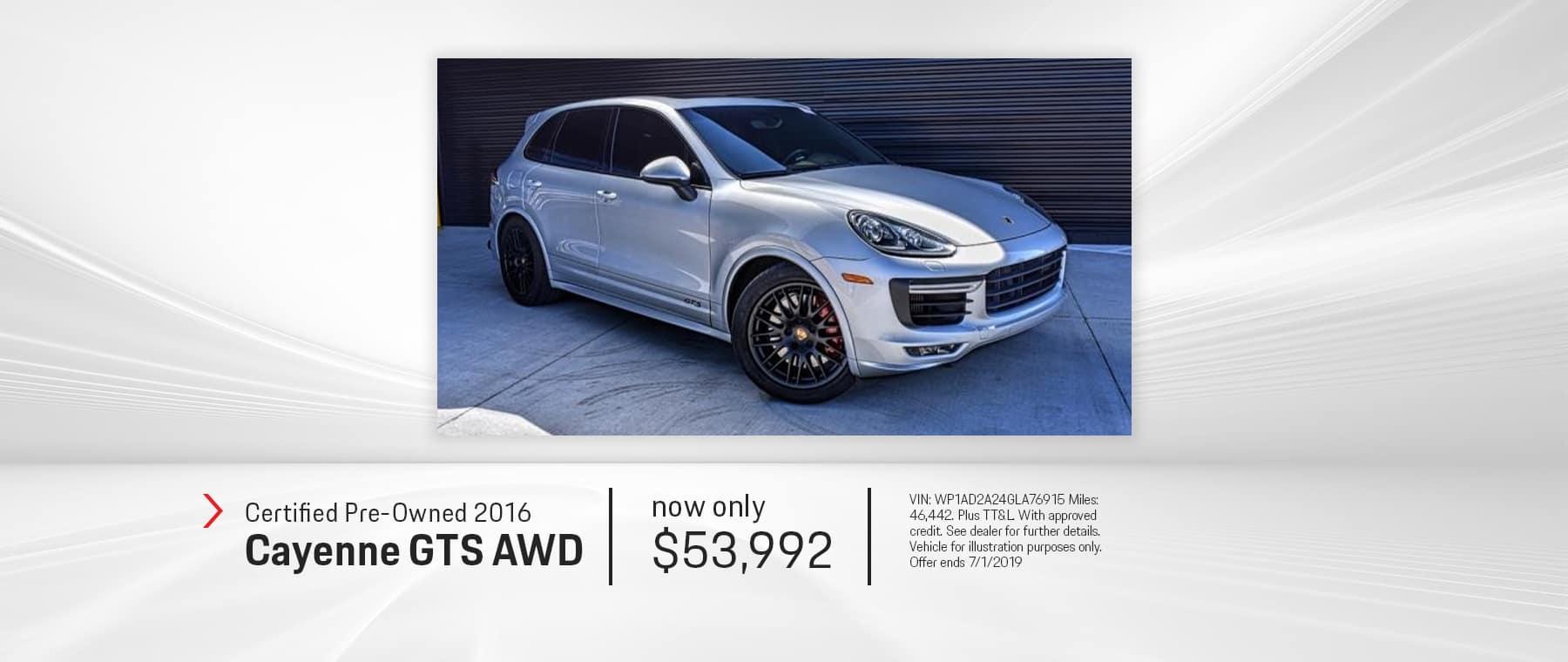 2016_PreOwned_Porsche_Cayenne_GTS_AWD_El_Paso_Texas