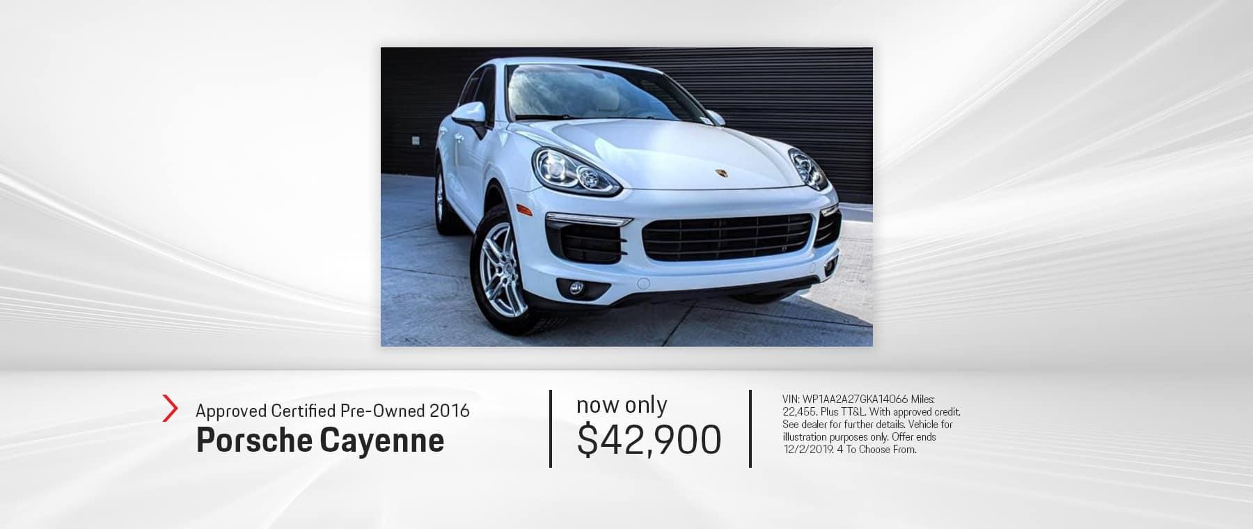 Certified Used Car 2016 Porsche Cayenne