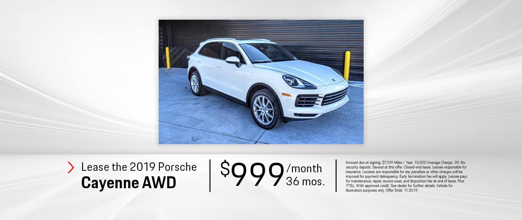 Lease the 2019 Porsche Cayenne AWD