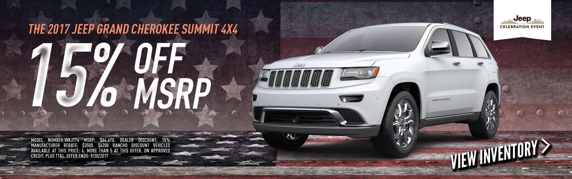 2017 Grand Cherokee Summit