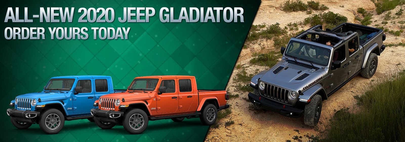 2020 Jeep Gladiator Pre-Order banner