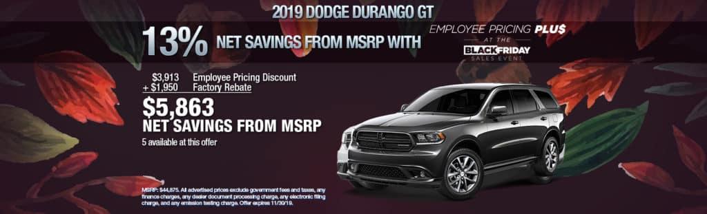 NEW 2019 DODGE DURANGO GT