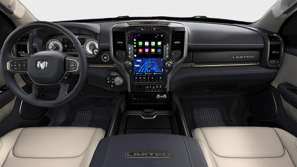 2019 RAM 1500 LIMITED CREW CAB BOX interior