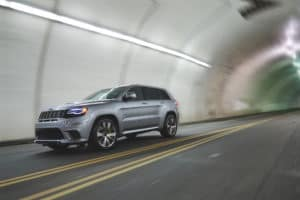 Silver Jeep Grand Cherokee Safety Features