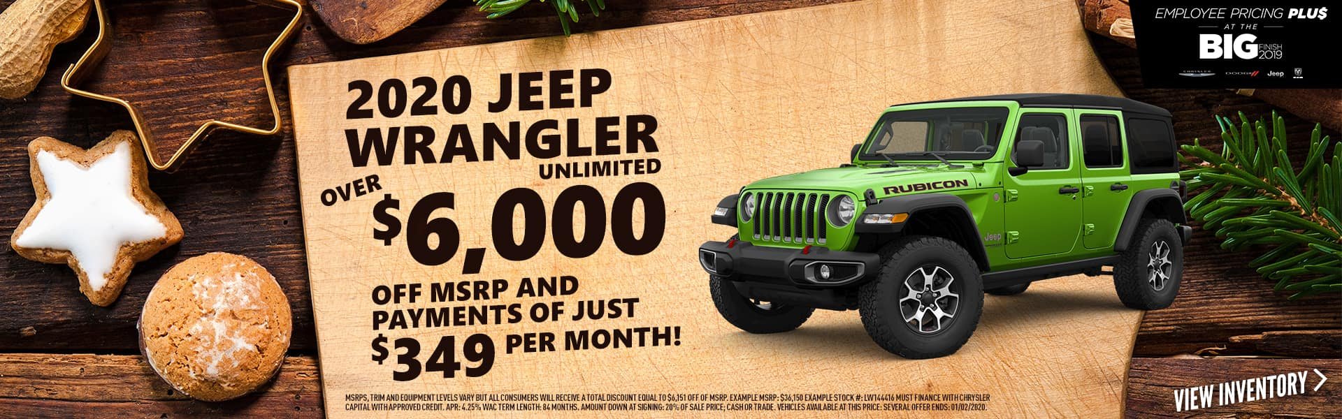 2020 Wrangler Unlimited for over $6,000 off - Expired 1/02/2020