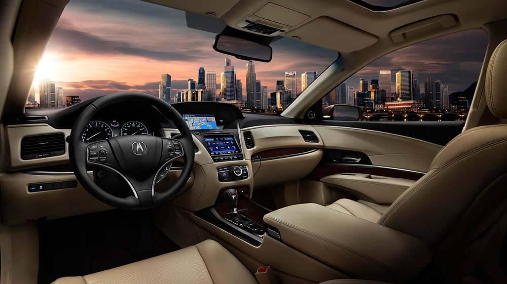2017 Acura RLX front interior seating