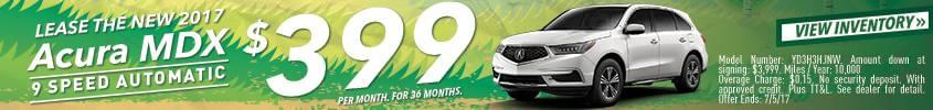 2017 MDX Lease Offer