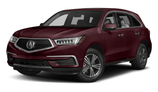 2017 Acura MDX white background