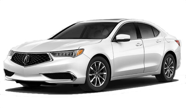 2017 Acura TLX white background