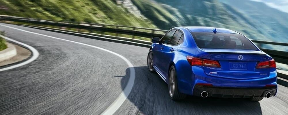 2018 Acura TLX blue exterior model