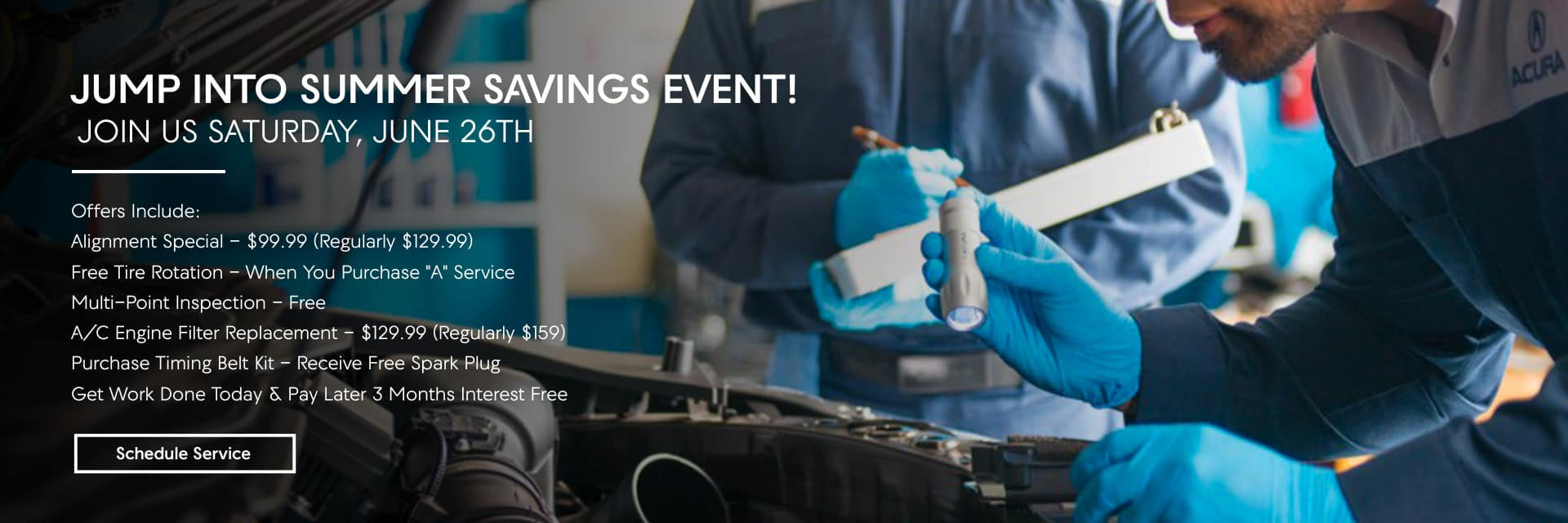 Jump Into Summer Savings Event!