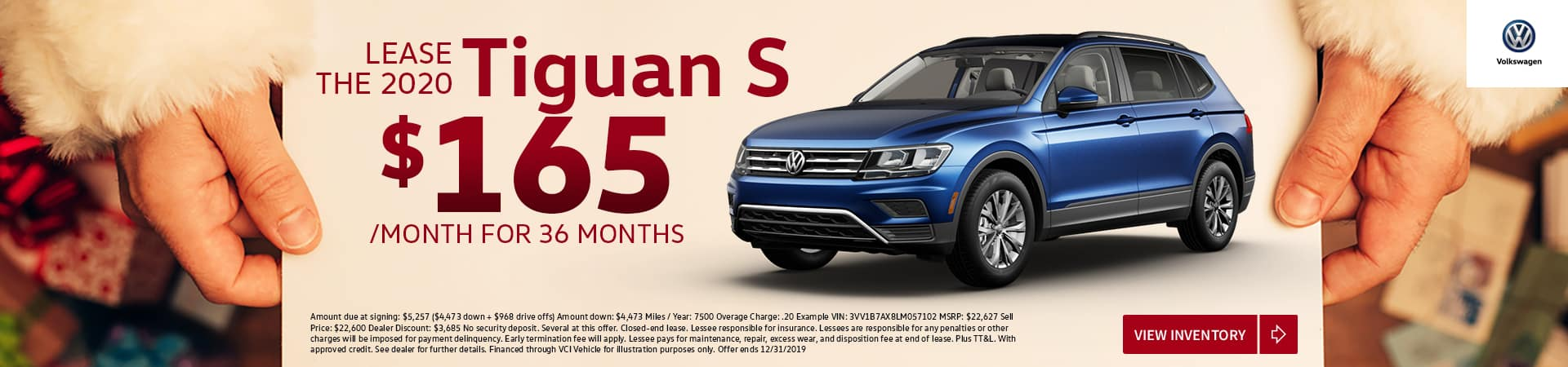 Lease New 2020 TIGUAN S $0 Security Deposit