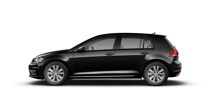 2021 Volkswagen Golf TSI in Deep Black Pearl with Beige Interior