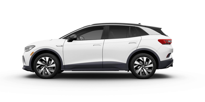 2021 Volkswagen ID.4 1st Edition in Glacier White Metallic with Gray Interior