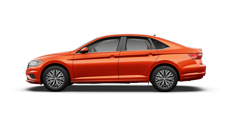 2021 Volkswagen Jetta S in Habanero Orange Metallic with Titan Black Interior