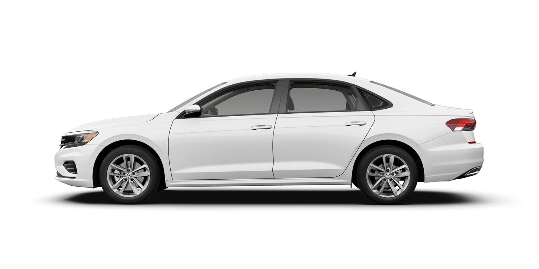2021 Volkswagen Passat S in Pure White with Titan Black Interior